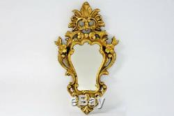Antique French Small Wood Mirror Louis XVI French 1920