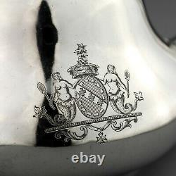 Antique French Solid Sterling Silver Teapot. Louis Bachelet. Paris, Circa 1850