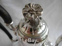 Antique French Sterling Silver Coffee, Tea Pot, Louis XV Style, Middle Century