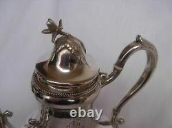 Antique French Sterling Silver Tea Pot, Louis XV Style, XIX Century