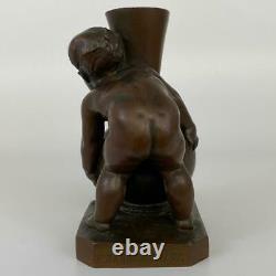 Antique Louis-Ernest Barrias Ferdinand Barbedienne French Bronze Putti Sculpture
