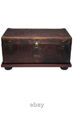 Antique Louis Vuitton Steamer Trunk / Chest / Luggage