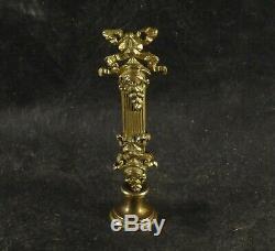 Antique Louis XVI French Bronze Wax Seal Very Detailed Design XIX Century Rare
