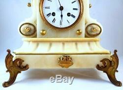 Antique Louis XVI French mantel clock pendulum chimes Samuel Marti