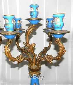 Antique PAIR FRENCH LOUIS XV ROCOCO CANDELABRA CANDLESTICKS