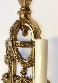 Antique Sconce LOUIS XVI Gold Ormolu Bronze Wall Light French Empire Candelabra