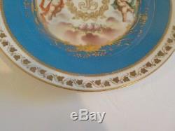 Antique Sevres Chateau Des Tuileries Louis Philippe Cabinet Plate (#1)