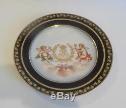 Antique Sevres Chateau Des Tuileries Louis Philippe Cabinet Plate (#2)