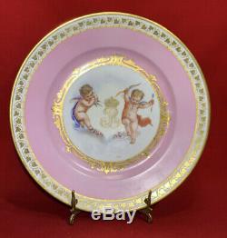 Antique Sevres Porcelain Plate Cherub Angel Louis Philippe CHATEAU DES TUILERIES