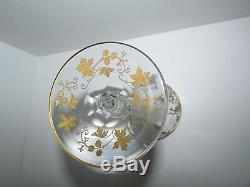 Antique St Louis or Baccarat Crystal Air Twist Stem Glass Compote #551