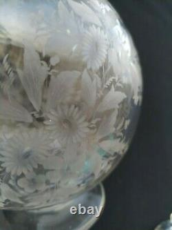 Antique St Louis or Baccarat Engraved Crystal French Decanter 8