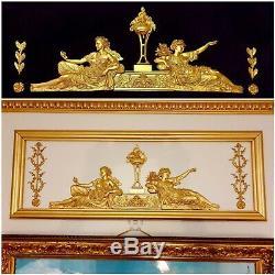 Antique Style Louis XVI Empire Gilt Decor Wall Door Pediment Moulding Decoration