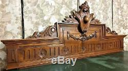 Architectural salvage Louis XVI design pediment Antique french wood carving
