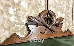 Architectural salvage Louis XVI pediment Antique french wood crest cornice