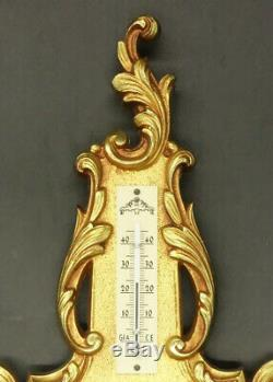 BAROMETER LOUIS XV STYLE BRONZE FRENCH ANTIQUE Functional