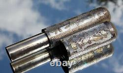 BEAUTIFUL FRENCH Louis XVI SILVER-MOTHER of PEARL BILLET DOUX-LOVE LETTER HOLDER