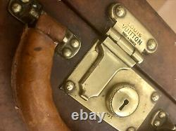 Beautiful Antique/Vintage Leather Louis Vuitton Suitcase/Trunk With LV Details