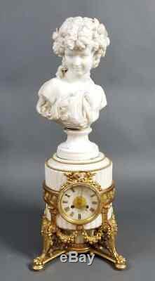 Bohemian A Magnificent French Antique Louis XVI Style Marble and Gilt