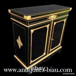 Cabinet stamped GROHE Louis XIV style in Boulle marquetry 19th Napoleon III