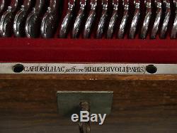 Cardeilhac Antique French Paris 950 Silver Louis XV Pattern Flatware Set Service