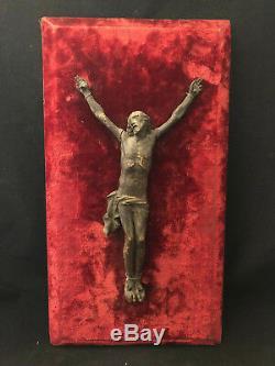 Christ Epoque Louis XIV Bois Sculpté Crucifix XVII ème Antique French 17th