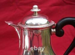 ERCUIS French Silverplate Tea Coffee Set 5 Pcs Shell Louis XV Model