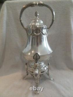 Exceptional 19th c French 950 silver hot water fountain samovar Odiot Louis XVI