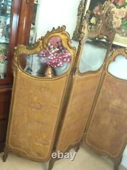 Exquisite Antique Louis XV French Carved Screen Divider Rococo Superb