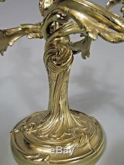 Fine Antique Brass Candelabra French Louis XV / Rococo style ca. 20th century