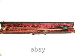 Fine Antique Louis Morizot Bass Cello Bow Silver Mounted French Mirecourt
