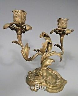 Fine RARE Bronze D'Ore Candelabra French Louis XV / Rococo ca. 18-19th century