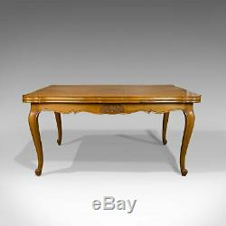 French, Antique Draw Leaf Dining Table, Beech, Extending, Louis XV Revival c1930