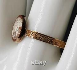 French Antique Loyalist Tassie Ring King Louis XVIII, 18k Gold 1815 Georgian Era