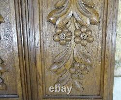 French Antique a Pair of Wall Panels Hand Carded Oak Wood Salvage Louis XV St