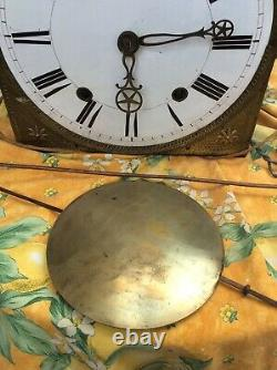 French Comtoise Tall Clock Morbier Sun King Louis XIV 1800s Grandfather Brass