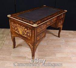 French Desk Louis XV Knee Hole Writing Table Bureau