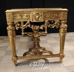 French Gilt Console Table Louis XVI Carved Furniture