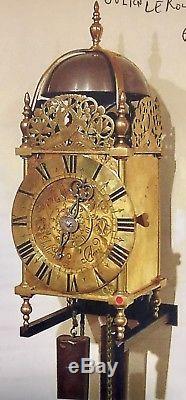 French Lantern Clock Louis XV-period, circa 1720-1740 signed JULIEN LEROY