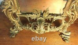 French Louis XIV-Style Ormolu Table-top Mirror
