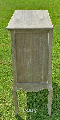 French Louis XV Shabby Chic Style Side Cabinet 3 Drawer (cy18816)