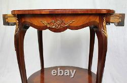 French Louis XV Style Marquetry Gueridon Occasional/Pedestal Table