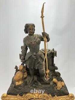 French Louis XVI Pendulum Mantel Clock P. L. Hausberg Paris Bronze Marble Gilded