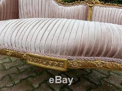 French Louis XVI Style Bench Settee Sofa