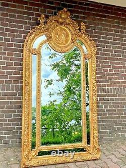 French Louis XVI Style Mirror Free Worldwide Shipping