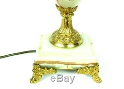 French Louis XVI Style Onyx and Ormolu Table Lamp FREE Shipping 5095