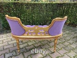French Louis XVI Style Settee/loveseat in purple Velvet