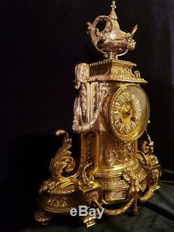 French Rococo Clock Louis XVI style- circa 1880