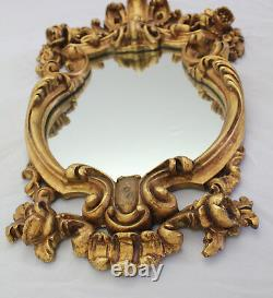 French Vintage Gilded Louis XV Style Mirror