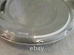 French silver-plated Christofle oval platter & bread basket Louis xvi rubans