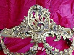 GEORGOUS ANTIQUE RARE BRONZE FRENCH BED CANOPY LOUIS XVI Style